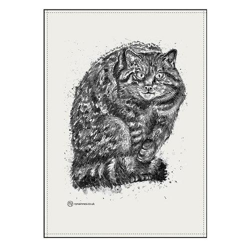 Rona Innes | Wild Cat Tea Towel