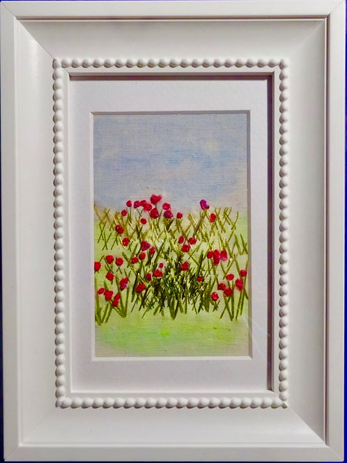 Stitch Impressions   Poppies   Hand & Machine Stitched Picture