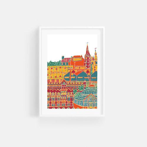 Caitlin Elizabeth Textiles | Print of Glasgow's East End