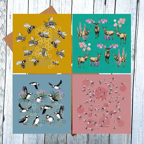 Tammie Norries  Greetings Cards Set 1