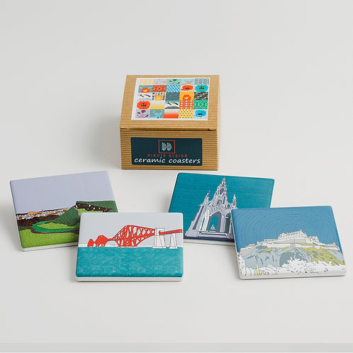 Dibujo Design | Edinburgh Landmarks Ceramic Coasters