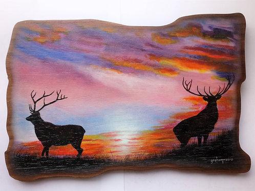 Haggisartz   Sunrise Sentries Wooden Plaque
