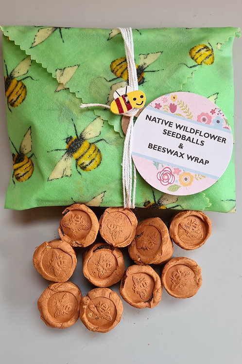 Granny Beeswax Wrap | SOW & WRAPNative wildflower seedballs & Beeswax Wrap