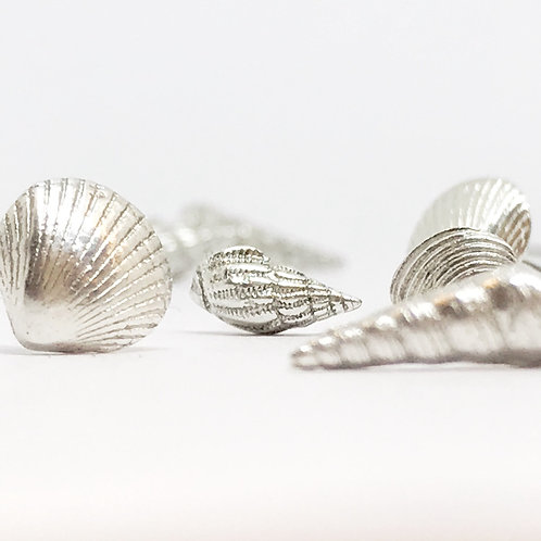 The Ticketyboo Coo | Silver Scottish Seashell Earrings