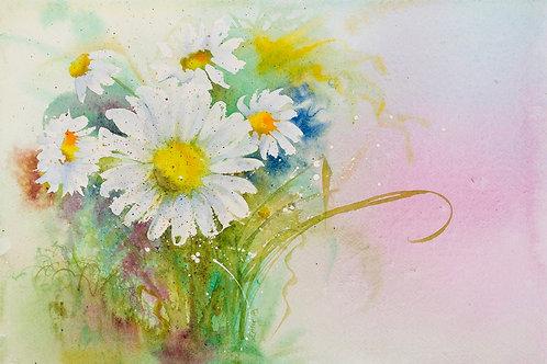 Emer Beattie Art | Summer Daisies, Giclée Print