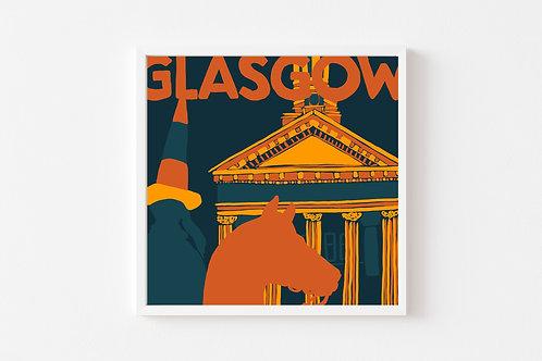 Caitlin Elizabeth Textiles | Print of Glasgow Merchant City