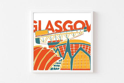 Caitlin Elizabeth Textiles   Print of Glasgow Finnieston