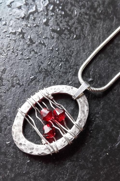 Moira Findlay Jewellery | Oval Crystal Pendant