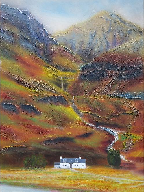 Scottish Island Art   Glencoe Cottage Print