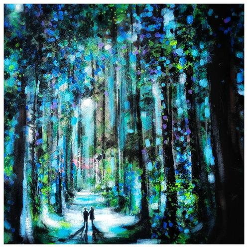 "Kris McKinnon   ""A walk in the moonlight"" Print"