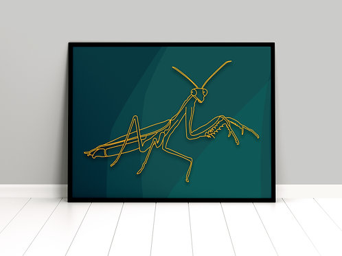 Instant Design Shop | A3 Prints | Golden Insects Collection