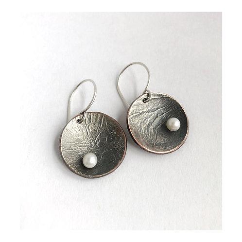aneta.bp | Handmade earrings with white pearls