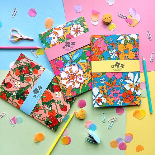 Harriet Julia Art | A5 Notebooks | Single or Pack of 3