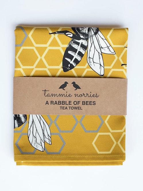 Tammy Norries | A Rabble of Bees Tea Towel