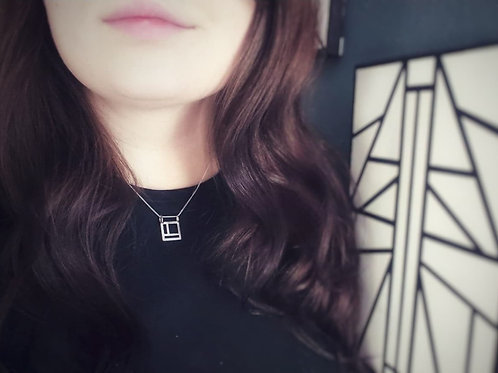 Pop Up Jewellery | Deco Square Necklace