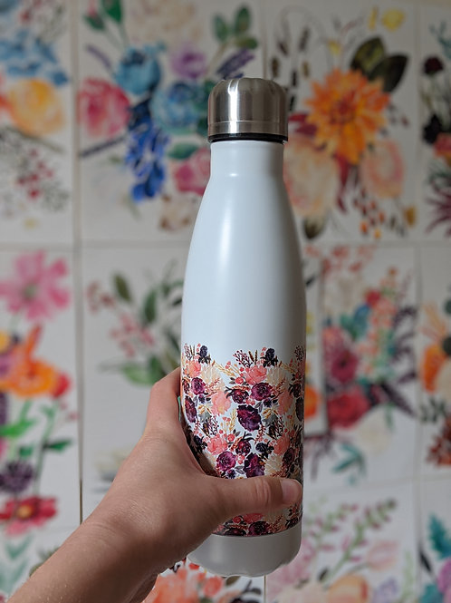 Sarah Leask | Floral Insulated Water Bottle