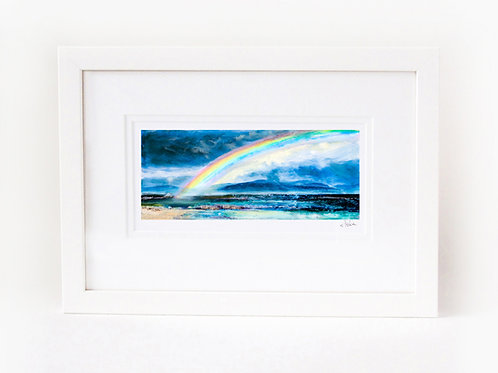 Scottish Island Art | Iona Rainbow Print