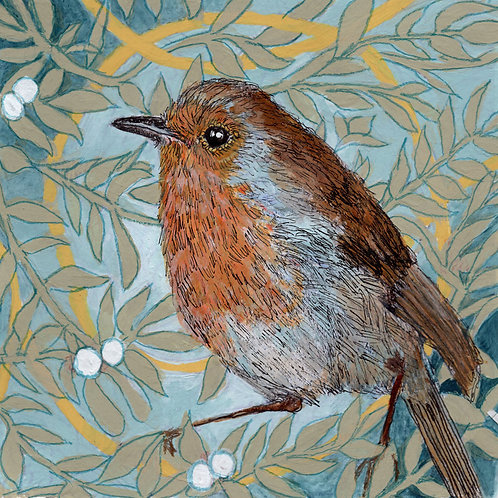 Between the Woods & Sea | Robin Print
