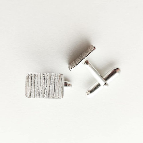 Iona Lundie Designs |  Hammered Silver Cufflinks