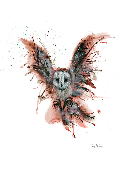 Craig McEwan Illustration | Airbrush Owl A4 Print