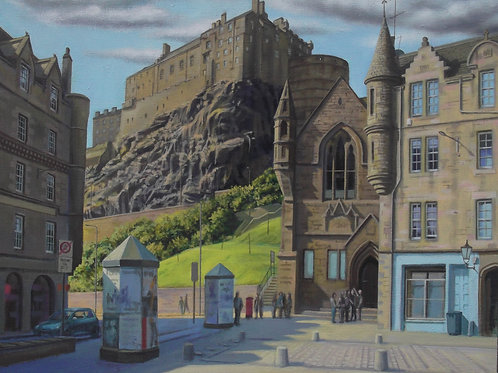 David Richardson Artwork | Edinburgh Castle from Grassmarket Print