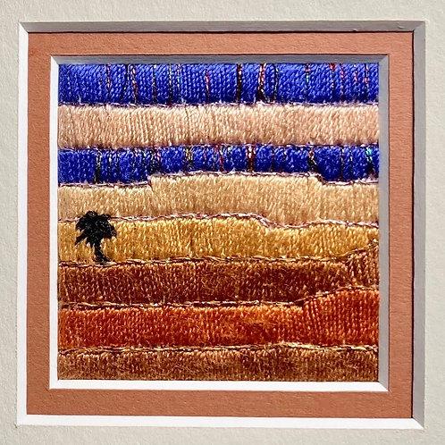 Stitch Impressions   Desert Memories   Small Square Silk Thread Picture