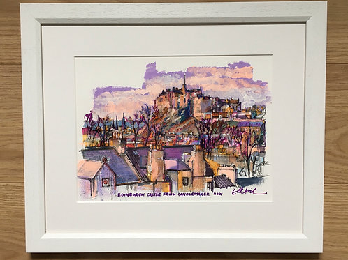 Erik Petrie - Edinburgh Castle from Candlemakers Row