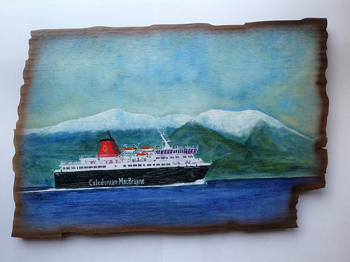Haggisartz | Caledonian MacBrayne Ferry Wooden Plaque