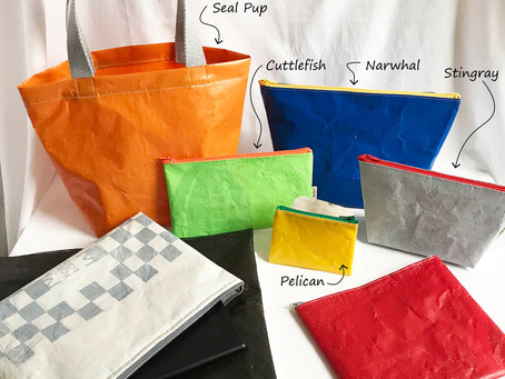 Kelly O makes sustainable accessories from old plastic bags