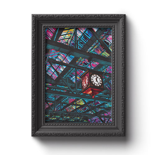 Paints Pylons | Central Station Clock Print