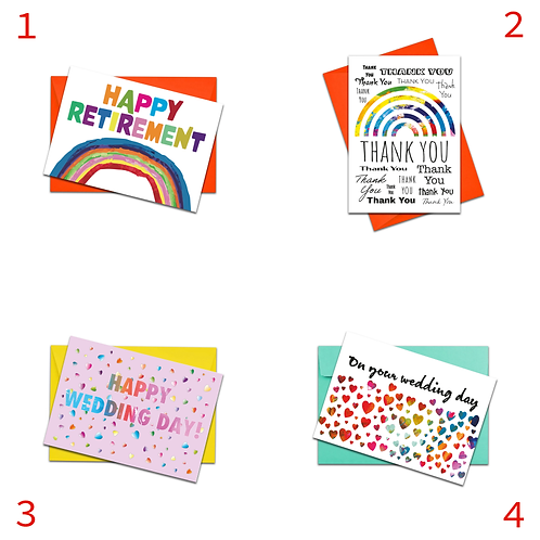 size3art | Multipack Colourful, Quality A6 Greeting Cards