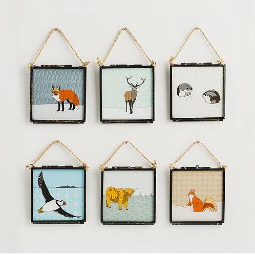 Dibujo Design   Scottish Animals - Framed Giclee Prints