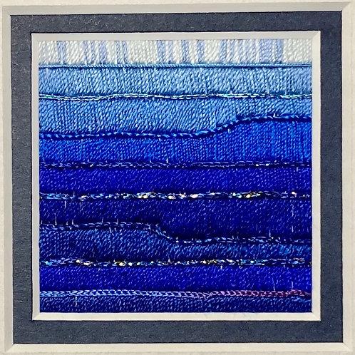 Stitch Impressions   Deep Ocean   Small Square Silk Thread Picture