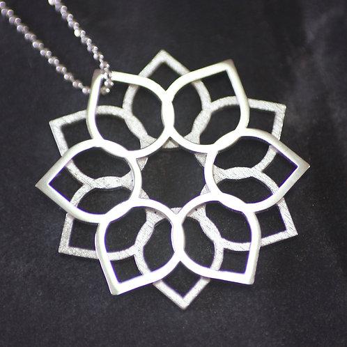 Lisa Crockard | 3D Printed Silver Array Pendant
