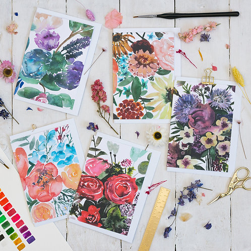 Sarah Leask   Blank Floral Greetings Cards