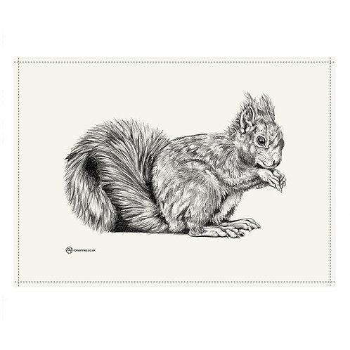 Rona Innes | Red Squirrel Tea Towel