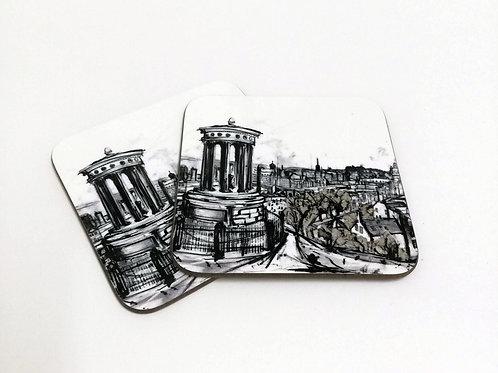 Liana Moran   Edinburgh Illustrations Coasters