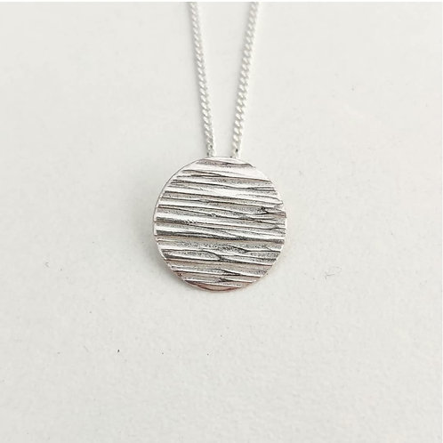 Iona Lundie Designs | Hammered Circle Necklace and Earrings