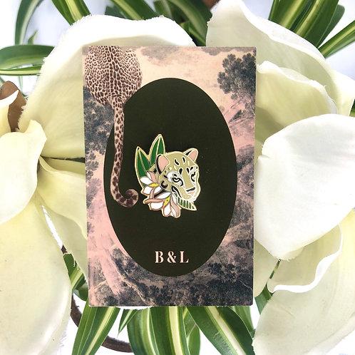 "Botanist & Leopard | Enamel Pins ""Botanical Leopard"""