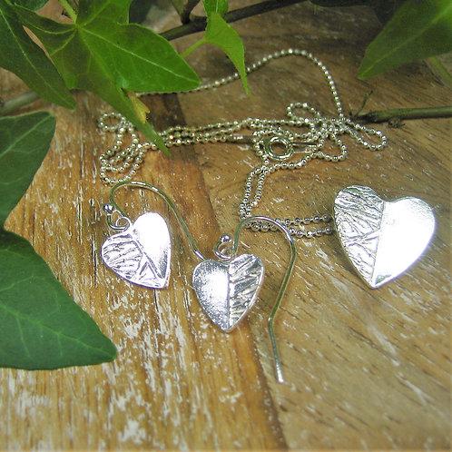 Silver Sparrow Jewellery | Ice Heart Pendant & Earrings