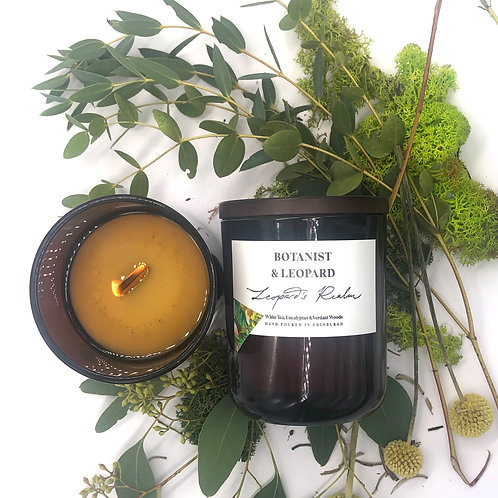 "Botanist & Leopard | Scented Soy Candles ""Leopard's Realm"""