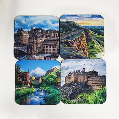 Sara Julia Illustration   Set of 4 Edinburgh Coasters