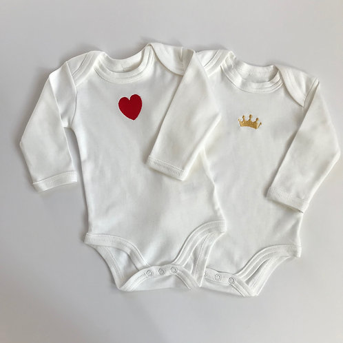 Rory & Ruby | Embroidered Organic Cotton Baby Bodysuits