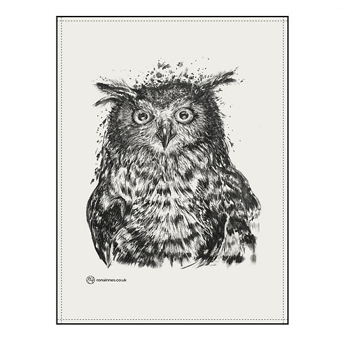 Rona Innes | Owl Tea Towel