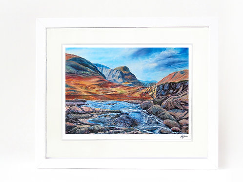Scottish Island Art | Glencoe River, hand-signed giclee print