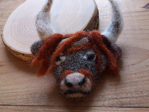 Forest Jewels | Highland Cow Brooch