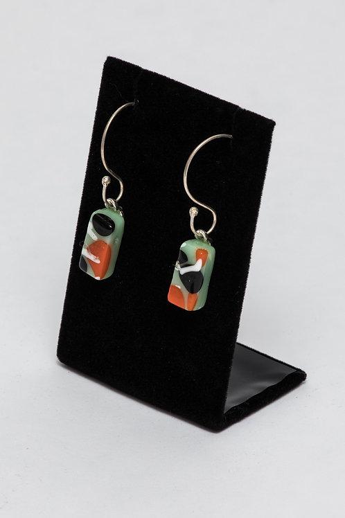 Alicia MacInnes | Leaf Dangley Earrings in Mint