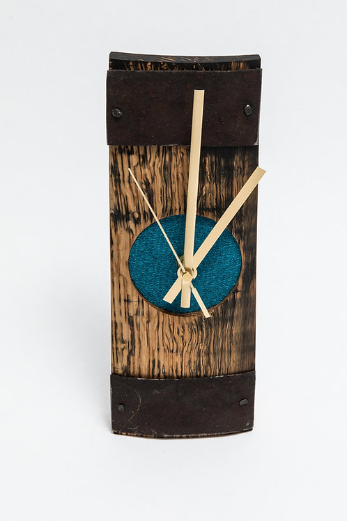Reza Wood Designs | Slim Barrel Clock with Tweed