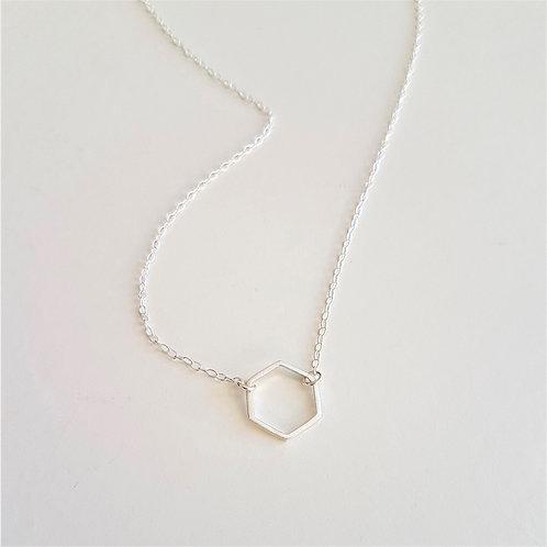 MUKA Studio | Hexagon Necklace (Silver)