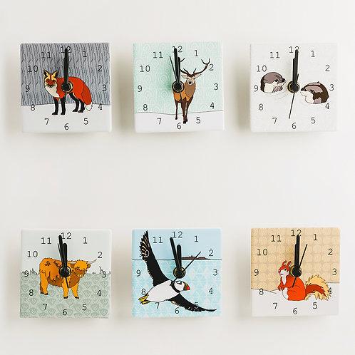 Dibujo Design | Mini Clocks - Scottish Animals
